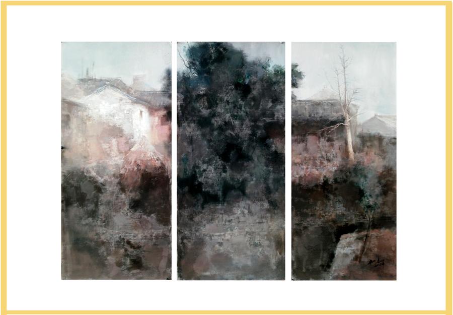 《志于画道》三人展-我的绘画作品