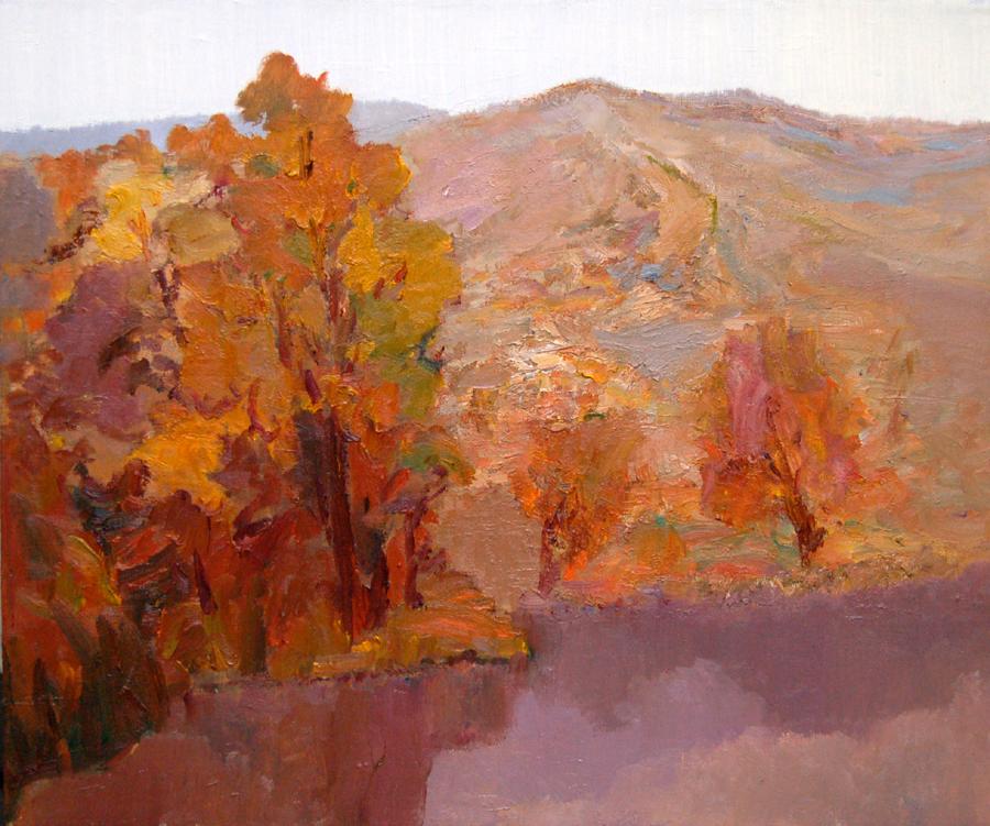 16《秋山4》油画 50x60cm.JPG