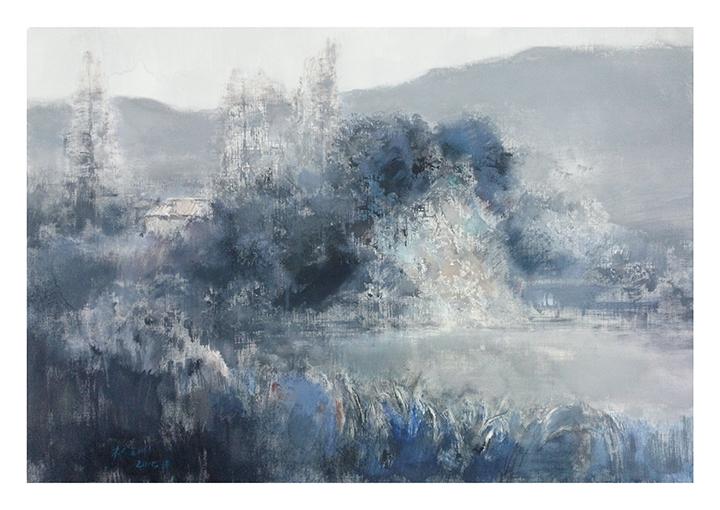 《蓝色风景二》水粉54x75cm.jpg