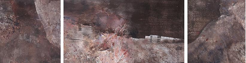 《远域 . 心迹之一》40x140cm  综合材料.jpg